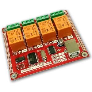 USB Relay Controller - Four Channel - PCB