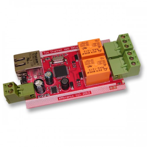 LAN Ethernet IP Two channels UDP Relay Controller - PCB