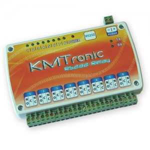 RS232 Relay Controller - Eight Channel with clips for DIN mount rail