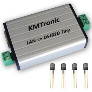 LAN DS18B20 WEB Temperature Monitor Full Complete 4 Sensors