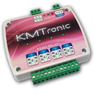 RS485 Relay Controller - Four Channel with Clips for DIN Mount Rail